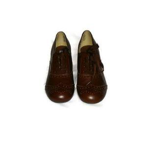 American express oxford bootie heels